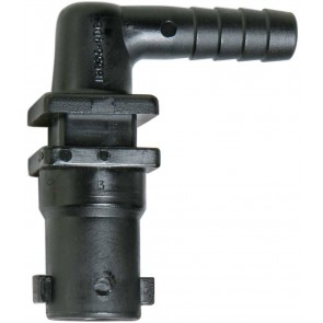"""3/8"""" Hose Barb 1 Outlet QJ100 Single Nozzle Body for Dry Applications"""