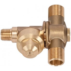 "1/4"" FPT 2 Outlet Brass Rollover"
