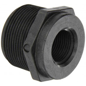 "Pipe Reducer Bushing Fitting - 1 1/2"" MPT x 3/4"" FPT"