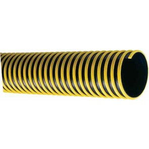 "1 1/4"" Black/Yellow Spiral Suction Hose / ft"