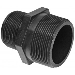 "Pipe Nipple Fitting - 3/8"" MPT x 3/8"" MPT"