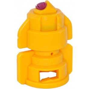 TurboDrop Yellow Ceramic-Polyacetal-EPDM High Pressure Full Ceramic TwinFan Spray Nozzle
