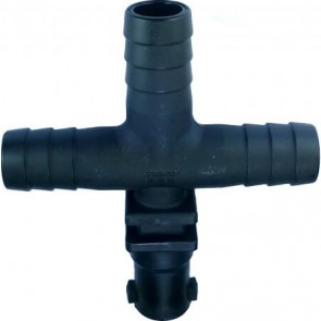 """1/2"""" Hose Barb 1 Outlet QJ100 Single Nozzle Body for Dry Applications"""