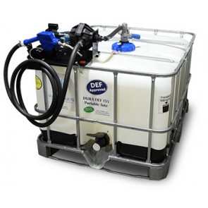 135 Gallon DEF IBC Tote with Easy Caddy Dura-Pump