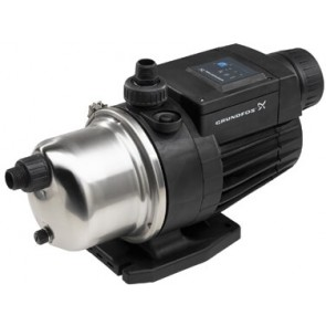 1 HP Pressure Booster Pump & Cover - Grundfos MQ3-45