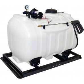 60 Gallon UTV Sprayer w/ 3.0 GPM Everflo Pump, Pressure Gauge, & Pistol Spray Gun