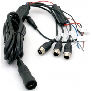 "Wiring Harness for 5"" Heavy Duty Monitor & 7"" Weatherproof Monitors"